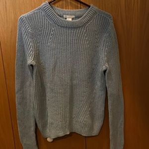 H&M silver blue sweater